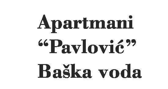 Apartmani Pavlovic Baska Voda